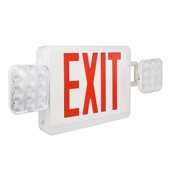 Emergency lights and exit sign combo
