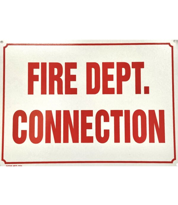 FDC (Fire Department Connection) Sign