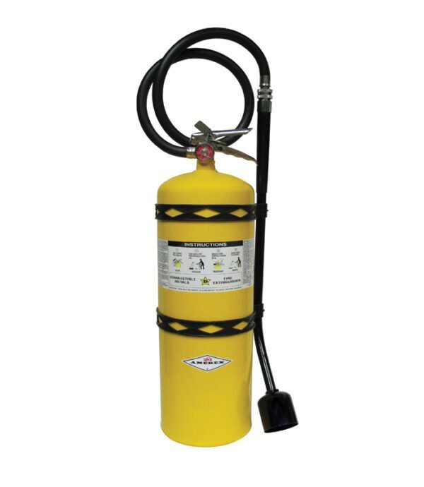 Class D Fire Extinguisher on white background