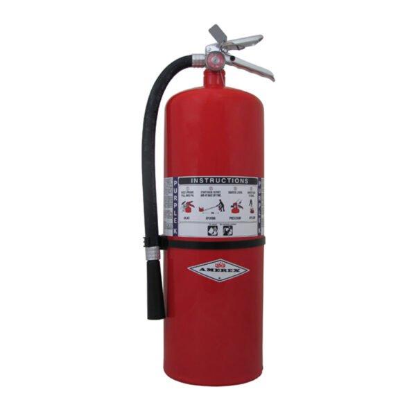 Purple K Fire Extinguisher on white background