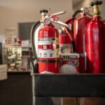 Fire extinguishers in store